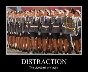 Distraction = not focus